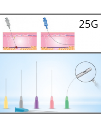 Microcannules for dermal fillers 25G - 0,50x50mm c/10u