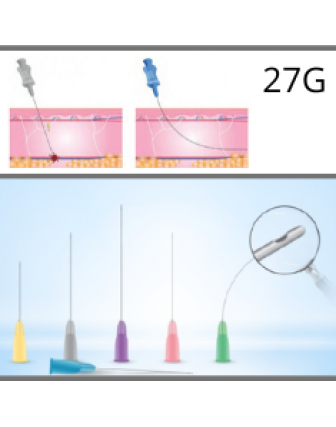 Microcannules for dermal fillers 27G - 0,40x50mm c/10u