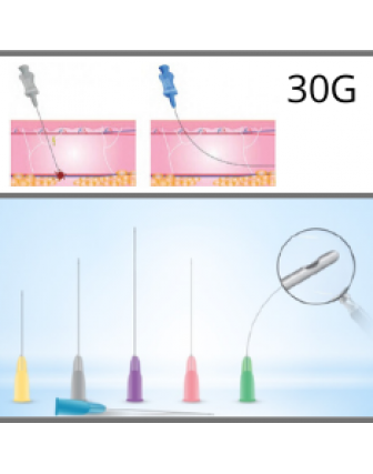 Microcannules for dermal fillers 30G - 0,30x38mm c/10u